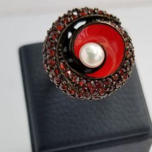Almadine Garnet & Sterling Silver Ring